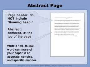 apa abstract page template purdue owl apa style guide