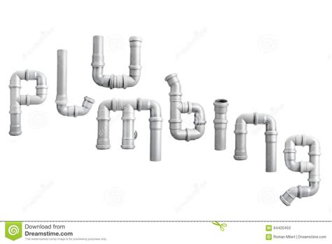 White Plumbing by Pvc Pipe Plumbing Word Stock Photo Image 64420453