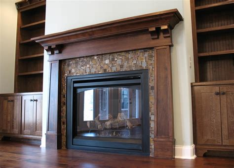 Fireplace Bookcase Ideas Craftsman Fireplace Surround Family Room Traditional With