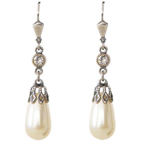 boucles d oreilles 224 cristaux swarovski 174 et perle nacr 233 e