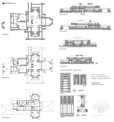 House Bluprints Martin House Plan Drawings
