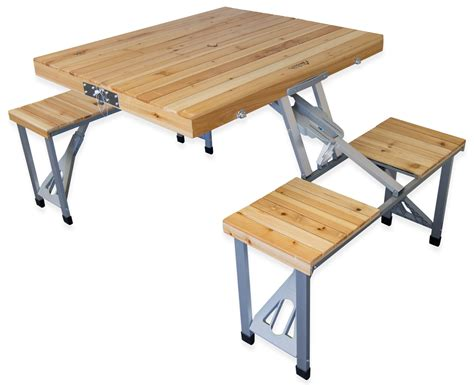 Folding Wood Picnic Table Andes Folding Wooden Cing Table Andes Outdoor Value