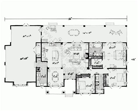 architectures house plans open floor plan one story one