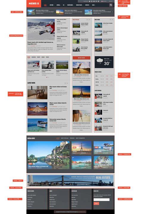 template for joomla free responsive joomla news magazine template sj news ii