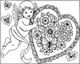 valentines day coloring pages for adults valentines coloring pages