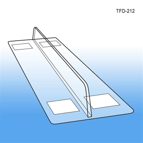 thermo formed shelf dividers 1 quot x 12 quot with 3