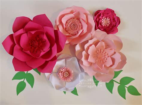 Big Paper Flowers - paper flower centerpiece paper flower wall large paper