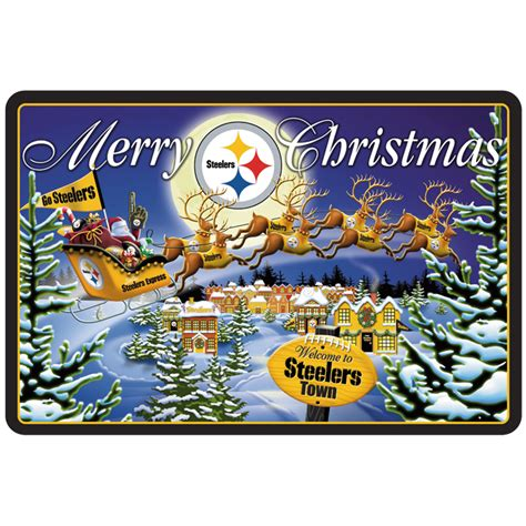 steelers christmas pics pittsburgh steelers doormats your 1st one is free willabee ward