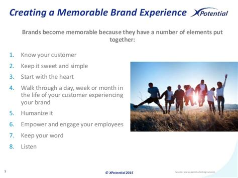 A Memorable creating a memorable brand experience