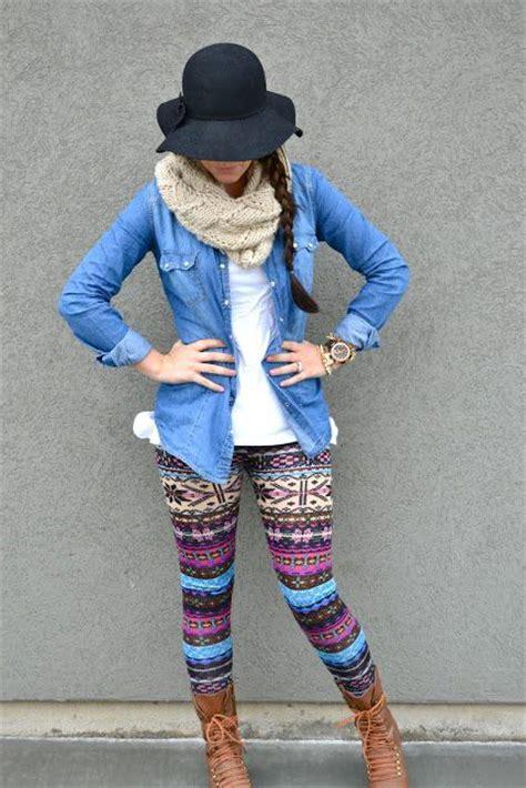 pattern leggings ideas best 25 denim on denim style ideas on pinterest sporty