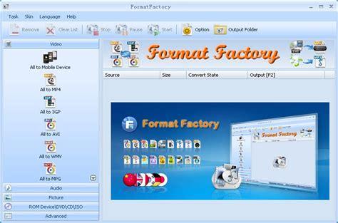 format factory converter quais formatos format factory 3 6 0 0 converta qualquer arquivo de 225 udio