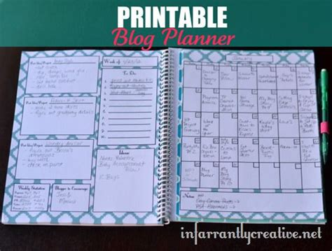 printable blog planner some free printables for 2013