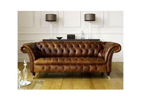barrington vintage leather chesterfield sofa