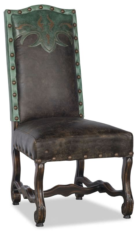 Dining Room Chairs Western Western Style Leather Dining Room Chair