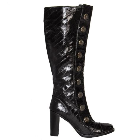 eel skin boots dolce and gabbana black eel skin boots for sale at 1stdibs