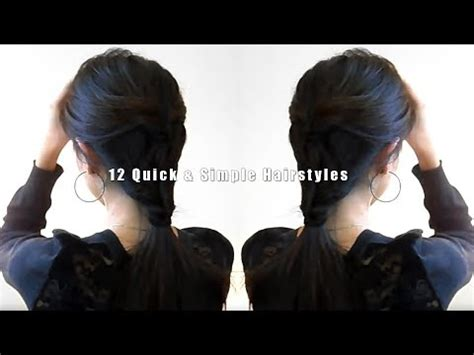 simple hairstyles at home india 12 quick simple hairstyles youtube