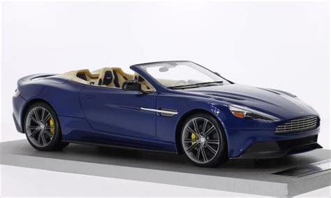 Aston Martin Car Models by Aston Martin Vanquish Volante Metallic Blue Tecnomodel