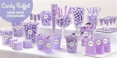 lavender candy buffet supplies lavender candy