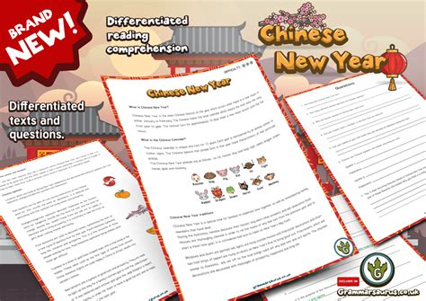 reading comprehension on new year new year 3 reading comprehension pack new
