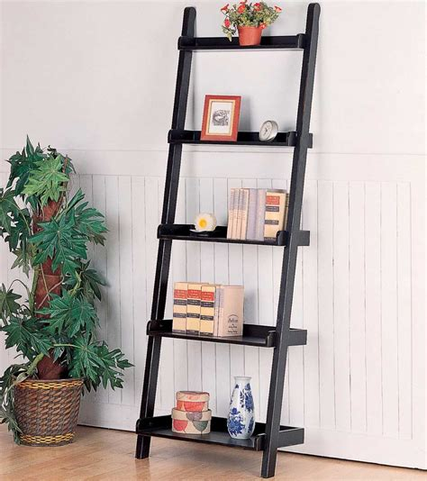pdf diy leaning ladder bookshelf plans log home