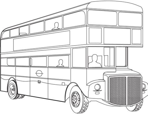 double decker bus coloring page download free double