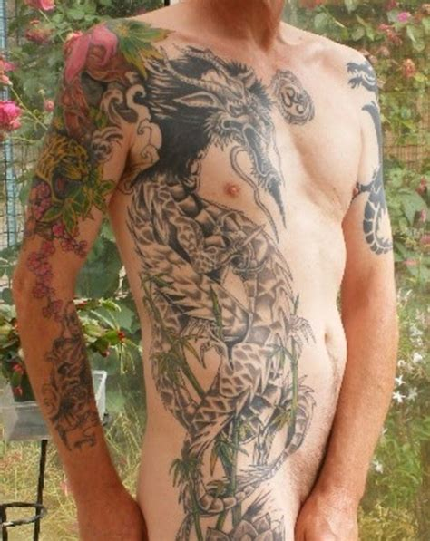 full body dragon tattoo male tribaltattoos dragon tattoos full body tattoos