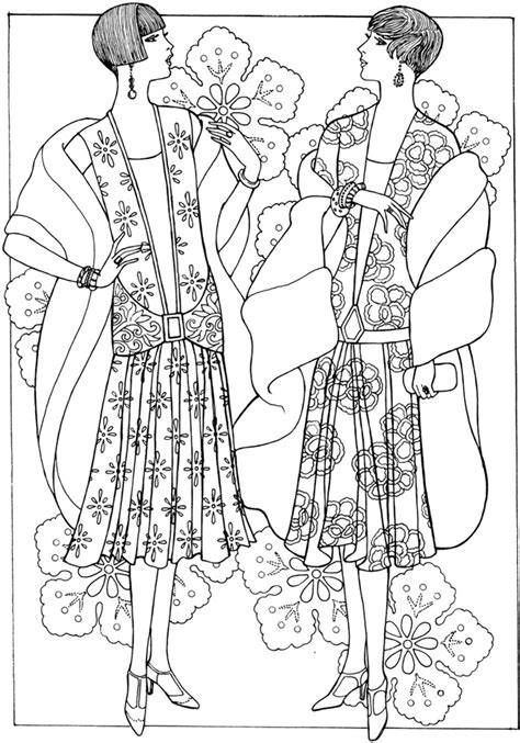 fashion coloring book an coloring book with beautiful and relaxing coloring pages books welcome to dover publications