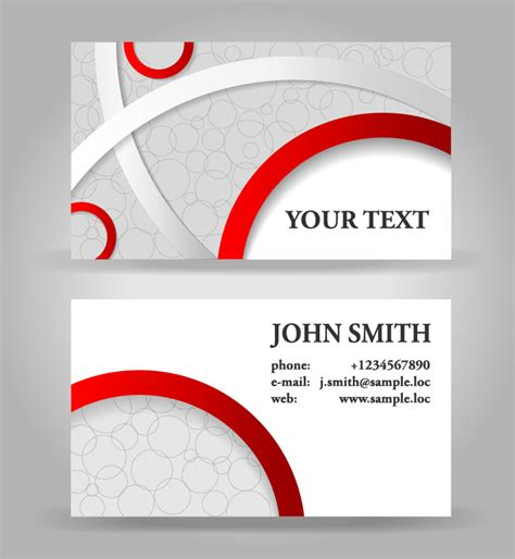 free vector about business card vector sources