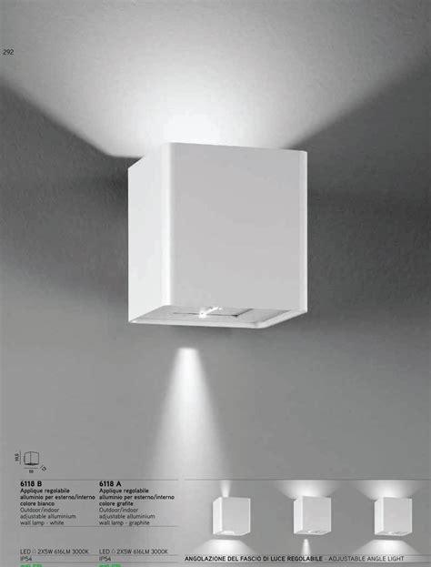 applique a led per interni dugdix da parete esterno