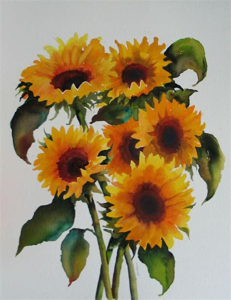 sunflower watercolor tattoo 41 best images about sunflowers lilacs geraniums on