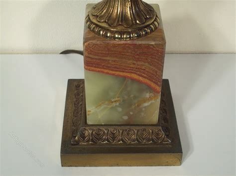 antique onyx table ls antiques atlas onyx and brass electric table l