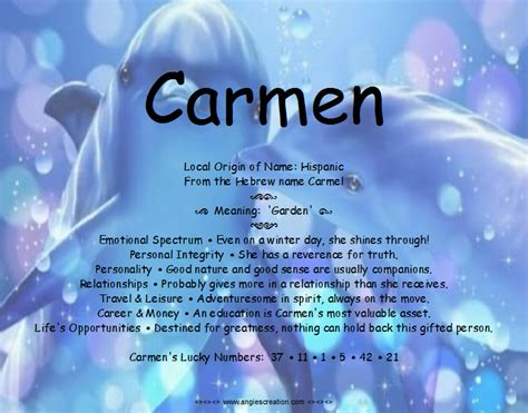 Carmen Name Meaning Picture And Images