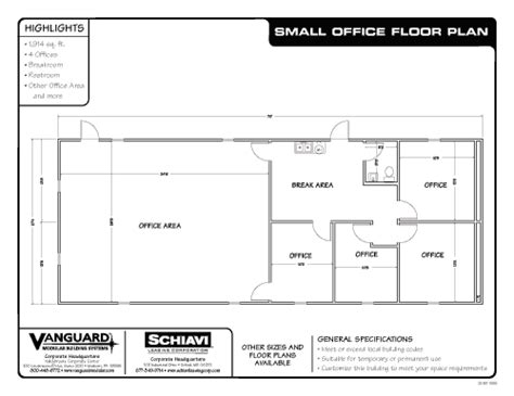Small Office Floor Plan Vanguard Modular Building Systems Ready To Roll