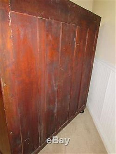 Antique Bookcase, Cabinet, Locking Glass Doors, Inlaid