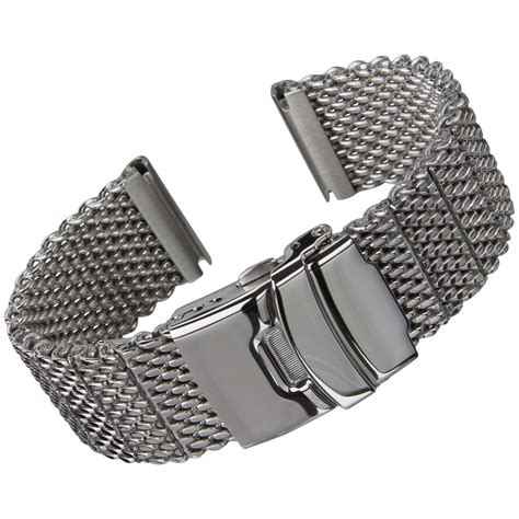 Geckota® High Quality Thick Stainless Steel Milanese Mesh Watch Strap 20 22 24mm   eBay