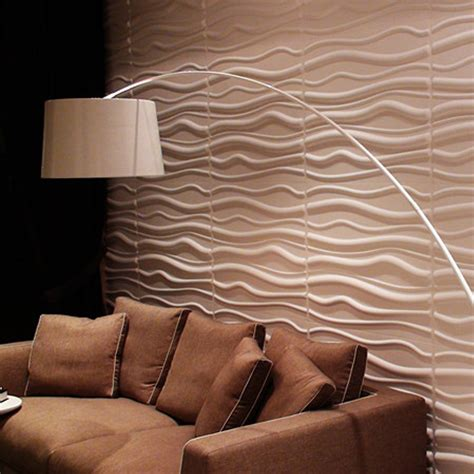 3d wall panel paintable waves 3d wall panels plant fiber off white set