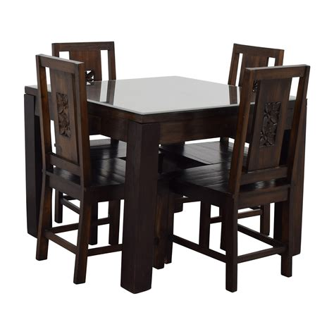 Balinese Dining Table 90 Balinese Teak Dining Table Set Tables