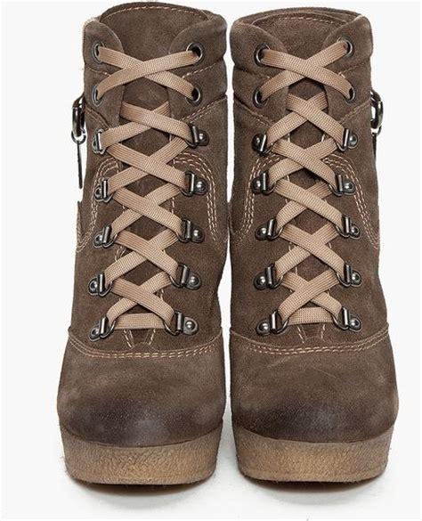 diesel rosko wedge boots in brown chocolate lyst