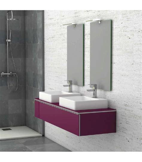 meuble suspendu salle de bain duo 140 banyo