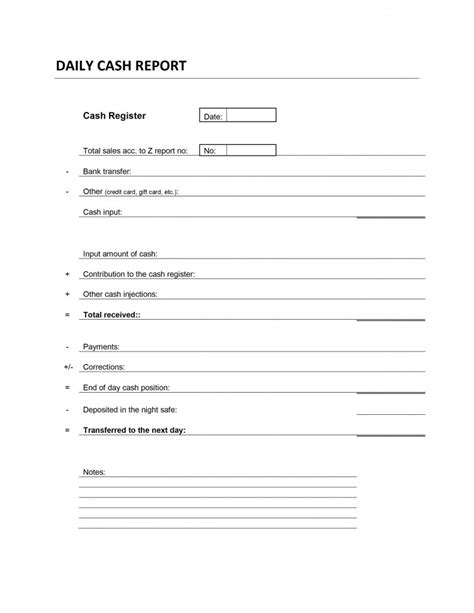 daily report card template daily transaction report template