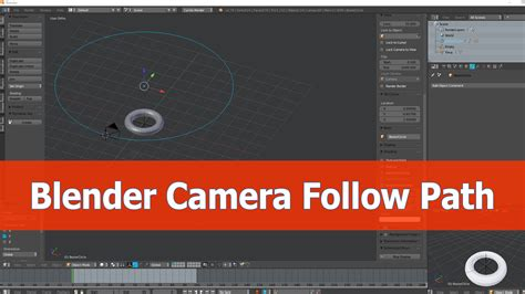 blender tutorial tracking camera tutorial how to make the camera follow a path blendernation