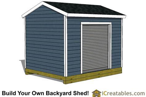 10x12 Shed Plans With Garage Door Icreatables 10 X 12 Garage Door