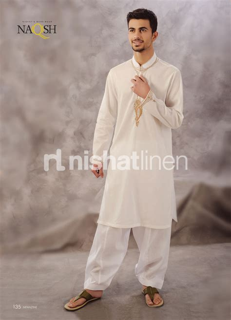 Atasan Pakistan Kurta 11 naqsh embroidery kurta collection by nishat lenin