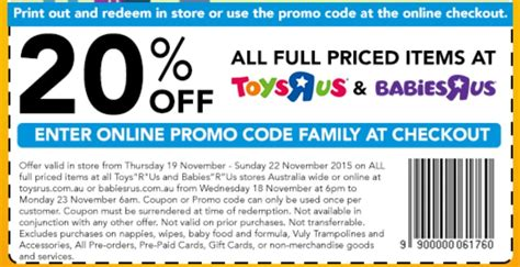 printable vouchers for toys r us on sale 20 off with toys r us family friends voucher