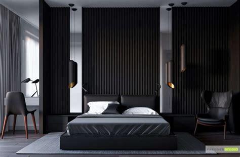 wood slat accent walls add warmth   bedroom