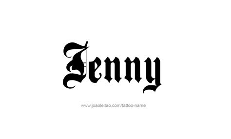 tattoo name jenny jenny name pictures to pin on pinterest thepinsta