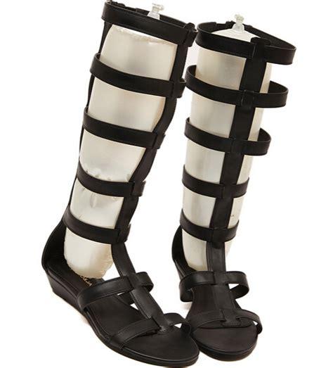 plus size knee high gladiator sandals plus size 35 40 fashion gladiator knee high sandals