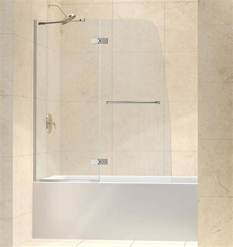 glass bathtub shower doors 48 quot x 58 quot dreamline aqua ultra 5 16 quot glass tub shower