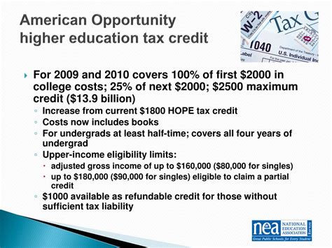 American Opportunity Tax Credit Mba by Ppt March 17 2009 Powerpoint Presentation Id 444229