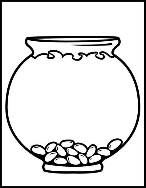 fishbowl template blank fish bowl coloring page clipart best